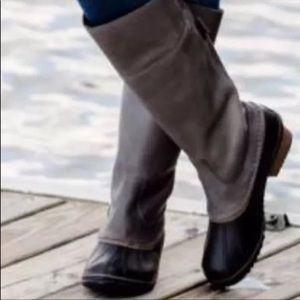 Sorel Slimpack Tall Waterproof Pebble Quarry Boots